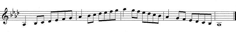 A Flat Major Scale for Clarinet
